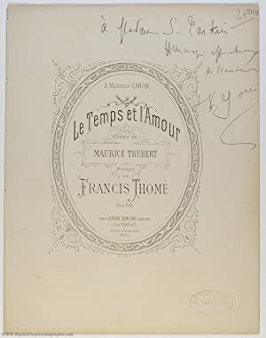 'Le Temps et L'Amour' for voice and piano, (Francis, 1850-1909, French Composer)