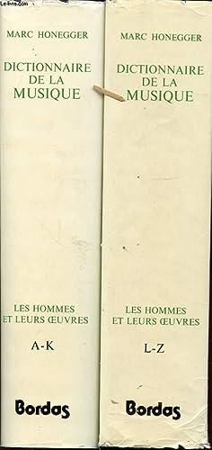 DICTIONNAIRE DE LA MUSIQUE EN 2 TOMES: MARC HONEGGER