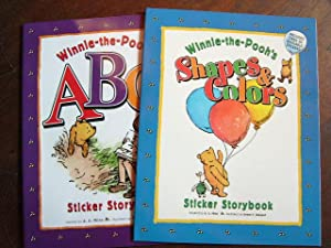 WINNIE-THE-POOH'S ABC STICKER STORYBOOK and WINNIE-THE-POOH'S SHAPES: Milne, A.A. inspired