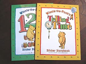 WINNIE-THE-POOH'S 123 STICKER STORYBOOK and WINNIE-THE-POOH'S TELLING: Milne, A.A. inspired