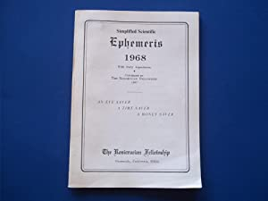 Simplified Scientific Ephemeris 1968 With Daily Aspectarian: An Eye Saver, A Time Saver, A Money ...