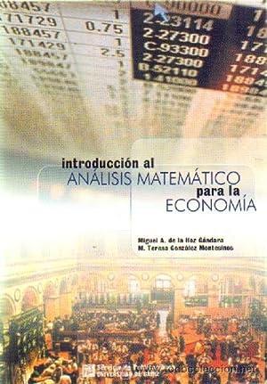 INTRODUCCION AL ANALISIS MATEMATICO PARA LA ECONOMIA: DE LA HOZ,