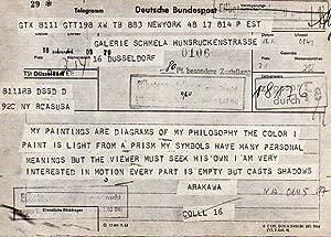Bild des Verkäufers für Arakawa Diagramme. [Einladung] Galerie Schmela, 24.1.1964 bis 13.2.1964. zum Verkauf von Antiquariat Querido - Frank Hermann