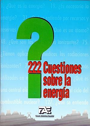 Imagen del vendedor de 222 CUESTIONES SOBRE LA ENERGIA (Forum Atomico Español) a la venta por Libreria 7 Soles