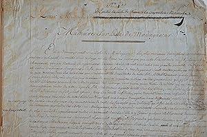 Important rapport d'exploration manuscrit de Madagascar du: Fortin Antoine Joseph
