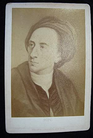 C. 1880 Cabinet Card Albumen Photograph of a Portrait of Alexander Pope By Stroefer & Kirchner:...