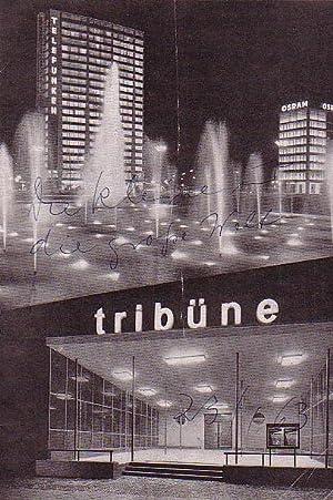 Programmhefte der Tribüne. Spielzeit 1963 / 1964,: Berlin. Die Tribüne.