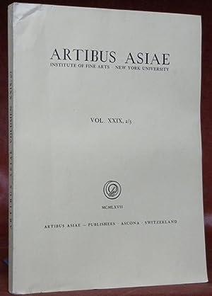 ARTIBUS ASIAE. Institute of Fine Arts - New York University.Vol. XXIX, 2/3.