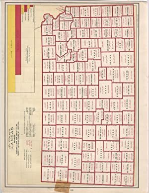 """MAP: """"A Statistical Map of Kansas, Showing: Cram, George F"""