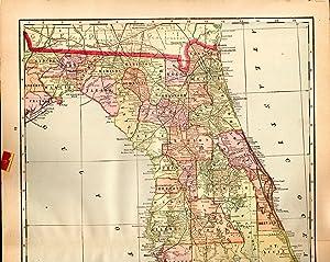 MAP:'Florida'.From Cram's Superior Reference Atlas of Kansas: Cram, George F.