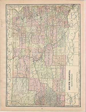 "MAP: ""South Dakota"".From Cram's Superior Reference Atlas: Cram, George F"