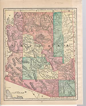 MAP: 'Arizona'.From Cram's Superior Reference Atlas of: Cram, George F