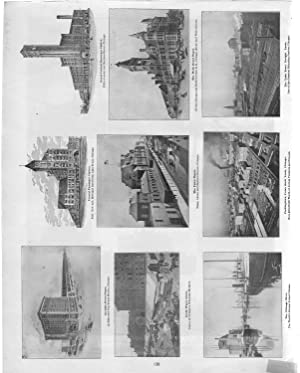 """PRINT:""""Chicago Scenes"""".From Cram's Superior Reference Atlas of: Cram, George F"""