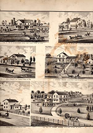 """PRINT: """"6 Scenes from Middle Bass Island,: H. H. Hardesty"""