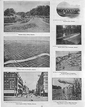 "PRINT: ""7 Kansas Scenes"".from Cram's Superior Reference: Cram, George F"