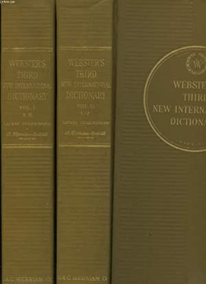 Seller image for WEBSTER'S THIRD NEW INTERNATIONAL DICTIONARY of the English Language. Unabridged. for sale by Le-Livre