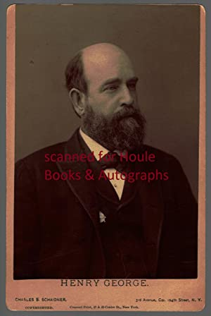 Vintage cabinet photograph of a bearded George Signed