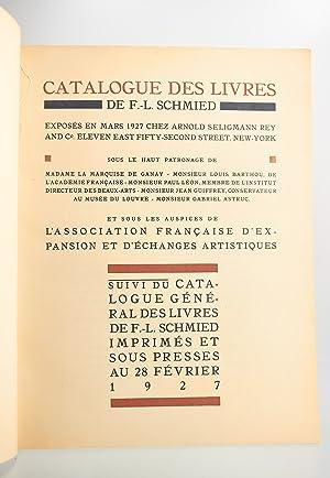 François-Louis Schmied peintre graveur et imprimeur. Catalogue: SCHMIED François-Louis &