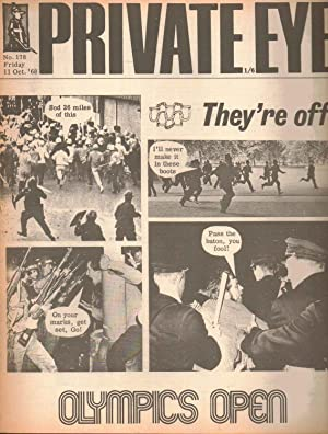 Private Eye Magazine. No.178. Friday 11 October 1968. Olympics Open: Edited by Richard Ingrams