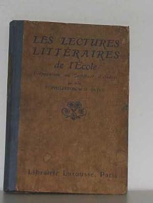 Les lectures littéraires de l'école: Philippon Paul Olive