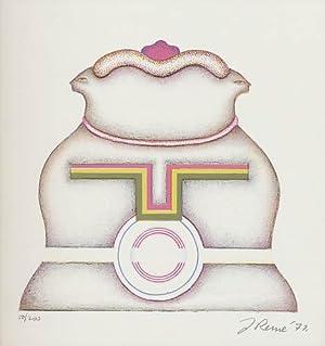 Ohne Titel. 1971. [Original-Offsetlithografie / original colored: Reme, Jörg: