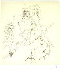 Les étrangers Etchings by Leonor Fini: Pineiro, Juan Bautista