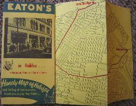 Eaton's in Halifax at Barrington, Prince and Granville Streets. Handy Map of Halifax and listing ...