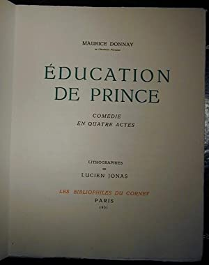 Education de Prince: DONNAY, Maurice