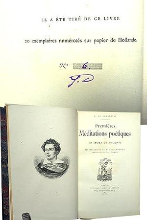 Premières Méditations Poétiques . Nouvelles Méditations Poétiques: LAMARTINE A. de.( Alphonse de ...