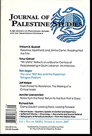 Journal of Palestine Studies (Vol XXXVI, No.: Khalidi, Rashid I.