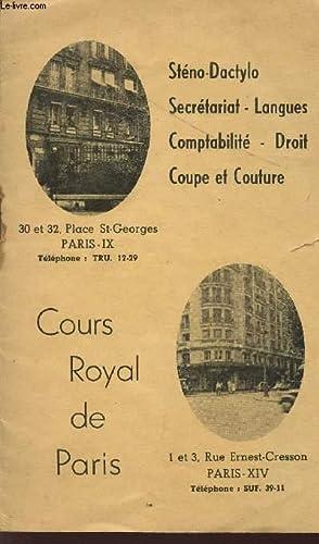COURS ROYAL DE PARIS / PLAQUETTE /: COLLECTIF
