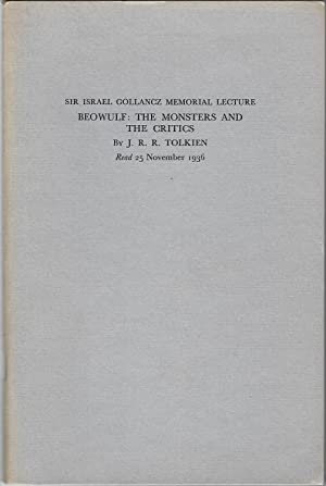 Beowulf: The Monsters and the Critics -: Tolkien, J. R.