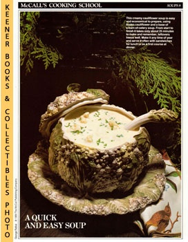 McCall's Cooking School Recipe Card: Soups 8 - Cream-Of-Cauliflower Soup (Replacement McCall's Re...