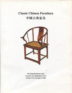 Classic Chinese furniture (Zhongguo gu dian jia ju) : an exhibition at the Kimball-Jenkins Estate.:...