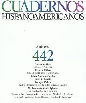 Imagen del vendedor de CUADERNOS HISPANOAMERICANOS. ABRIL 1987. Nº 442 a la venta por Librería Torreón de Rueda