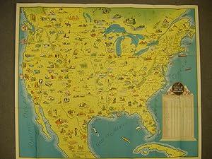 See America Landkarte U.S.A. ,