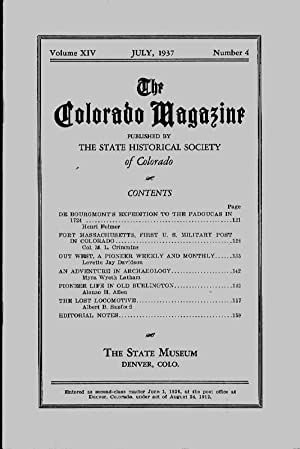 The Colorado Magazine, Vol. XIV, No. 4,: Hafen, LeRoy (ed.)