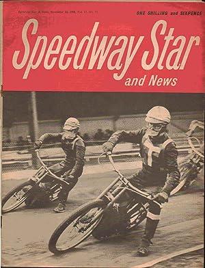 Speedway Star and News. November 22 ,1968. Volume 17. Number 37. Back Cover: Sverre Harrfeldt, West...