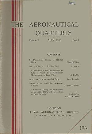 The Aeronautical Quarterly. May 1950. Volume 2. Part 1. Journal of The Royal Aeronautical Society