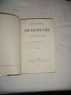 Oeuvres complètes. Tomes 1 à 6.: SHAKESPEARE (William)