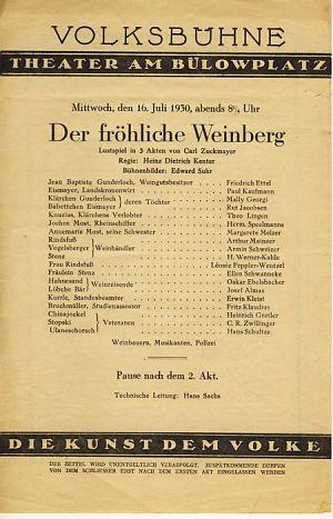 Konvolut von Theaterprospekten und -plakaten. 1902-1931.