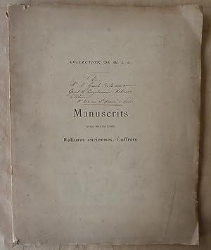 Catalogue de vente aux enchères de la Collection de Manuscrits avec miniatures, reliures, coffrets....