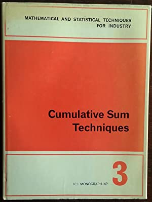 Seller image for Cumulative Sum Techniques. Mathematical and statistical Techniques for Industry; Monograph No. 3. for sale by buch-radel