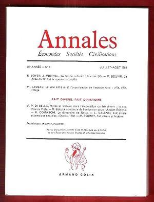 Annales , Économie - Sociétés - Civilisations: BRAUDEL Fernand ,