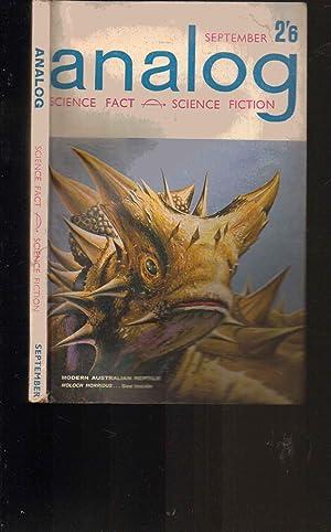 Analog Magazine. September 1962. Science Fact & Fiction. BRITISH EDITION: Edited by John W. ...