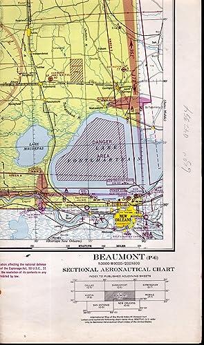 MAP: Beaumont (Texas) (P-6) Sectional Aeronautical Chart.: U.S. Coast and