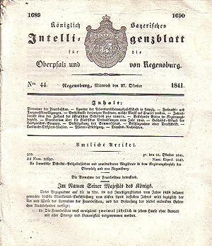 Königlich Bayerisches Intelligenzblatt für die Oberpfalz und: Regensburg. -
