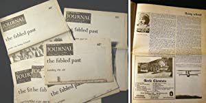 1989 - 1993 Group of 8 Issues of the North Shore Journal, the Fabled Past Articles: Americana - ...