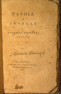 Favole e novelle di Lorenzo Pignotti, Aretino: Pignotti Lorenzo