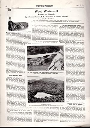 """PRINT: """"Wood Waste--II: Results and Remedies"""".story and: Dorrance, J. Gordon)"""